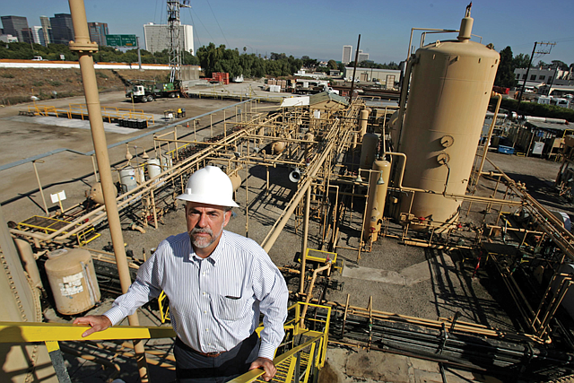 Out of Gas: Breitburn co-founder Hal Washburn at one of the firm's Los Angeles facilities.