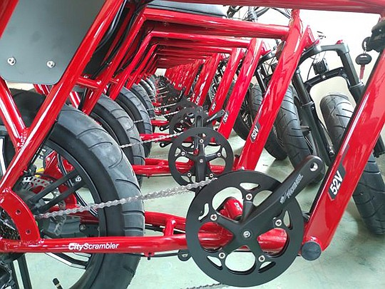 Juiced Bikes opened a manufacturing facility for its electric bicycles in China. Now, the company is facing a 25 percent import tariff on its products. Photo courtesy of Juiced Bikes manufacturing