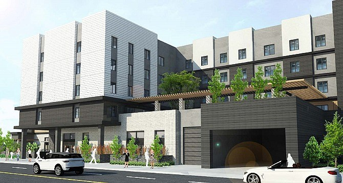 Rendering of Willis Development's Sage Glendale Senior Living