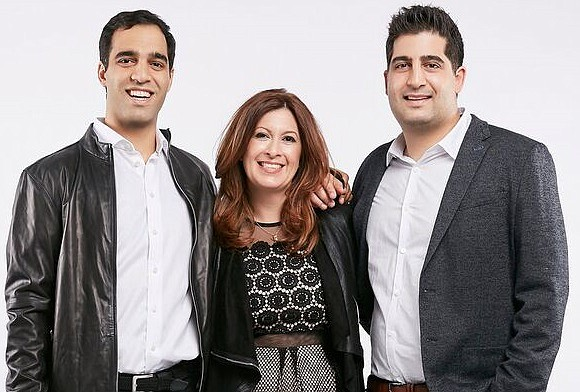 FabFitFun's co-founders Michael Broukhim, Katie Rosen Kitchens and Daniel Broukhim
