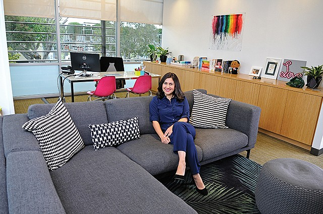 Shabnam Mogharabi, co-founder and general manager of SoulPancake, has created an office environment that's consciously playful.