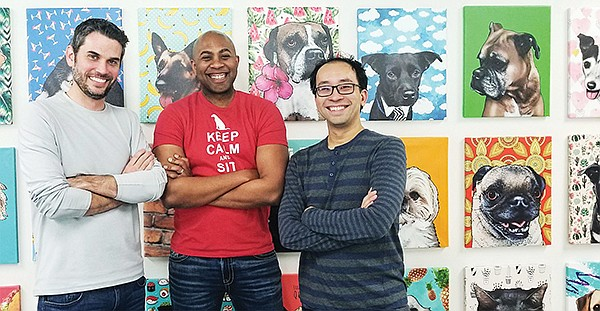 PetDesk co-founders Taylor Cavanah, Aaron Bannister and Ken Tsui (left to right) successfully pivoted their company into a vet-booking platform. Photos courtesy of PetDesk