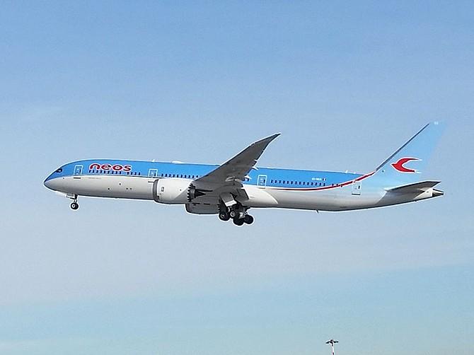 Neos, the Italian airline, will offer Viasat Wi-Fi service. Photo courtesy of Neos.