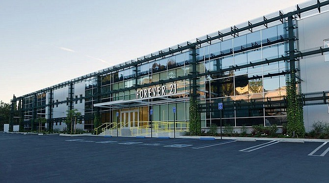 Forever 21's headquarters at 3880 N. Mission Road