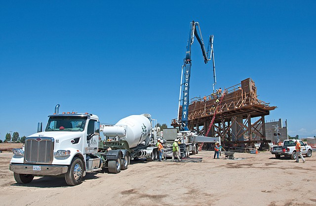 Project Progress: Tutor Perini equipment at high-speed rail construction site in Madera County in May.