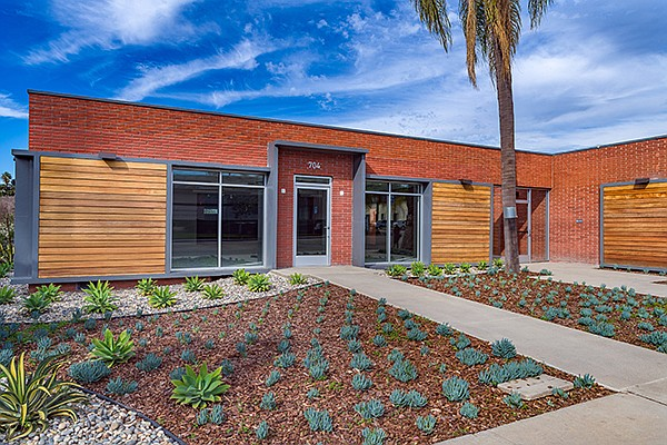 Renovating older buildings in North County is likely to become a growing trend in North County as happened at 704 East Grand Ave. in Escondido. Photo courtesy of Waterman Investments
