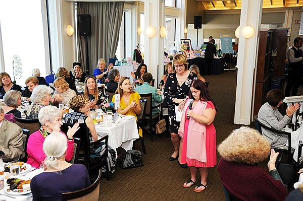 St. Madeleine Sophie's Center hosted its annual Tea by the Sea celebration at the Marine Room raising more than $19,000 to fund an art program. Photo courtesy of St. Madeleine Sophie's Center