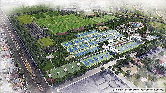 Tennis and Tech: The 80-acre center will focus on tennis and other sports as well as STEM studies.