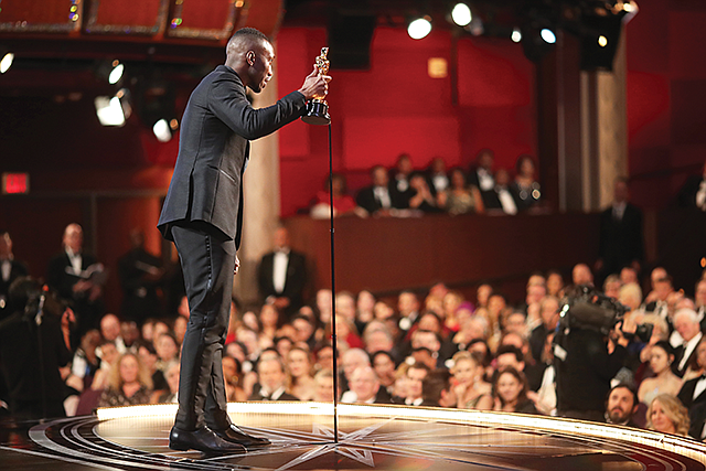 Award Boost: Mahershala Ali accepts the best supporting actor Oscar at the 2017 Academy Awards.