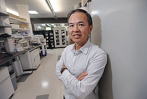 Explora Biolabs founder Richard Lin at the company's Sorrento Valley facility. The business is among the San Diego contract research organizations that have been acquired. File photo by Jamie Scott Lytle