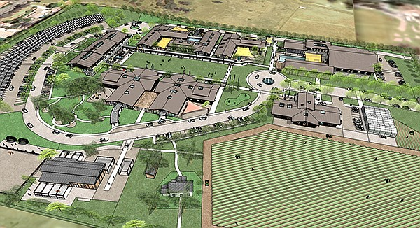TERI (Training Education Research Innovation) is developing a 20-acre campus in San Marcos to provide services for the developmentally disabled. Rendering courtesy of TERI
