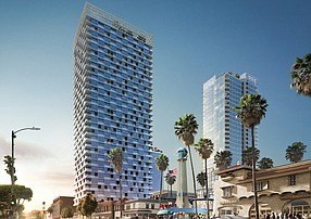 Rendering of the proposed Crossroads Hollywood project