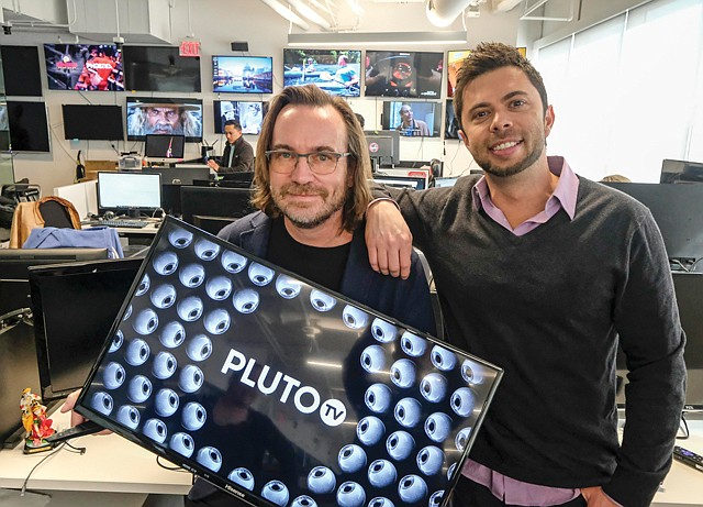 All Seeing Eyes: Pluto TV co-founders Tom Ryan, left, and Ilya Pozin.