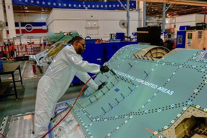 F-35 fuselage manufacturing in Palmdale.