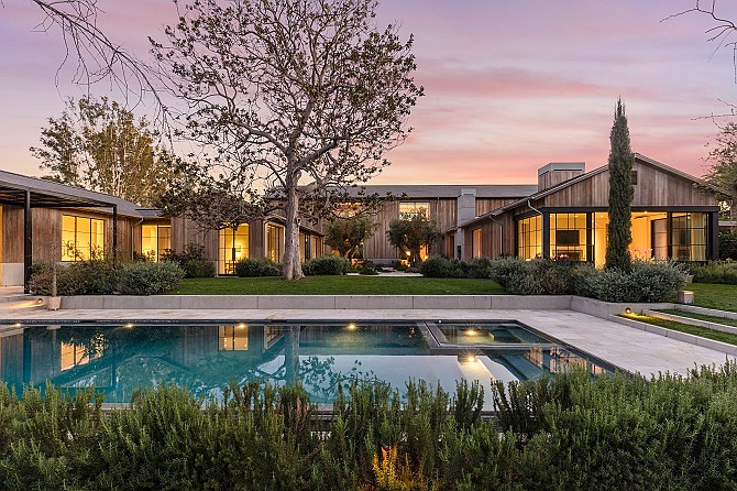 New Digs: The Beverly Crest estate purchased last year by Oaktree Capital Management's Bruce Karsh.