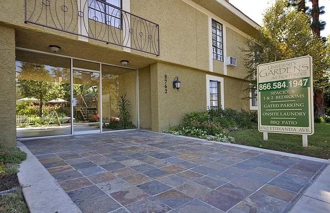 University Gardens apartment building at 8762 Etiwanda Ave. in Northridge.