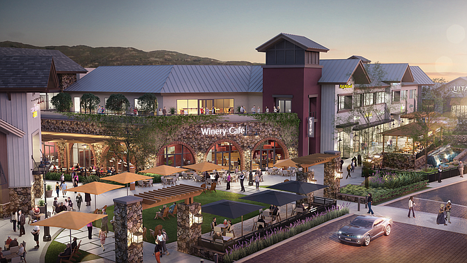 Rendering of The Vineyards shopping center in Porter Ranch.