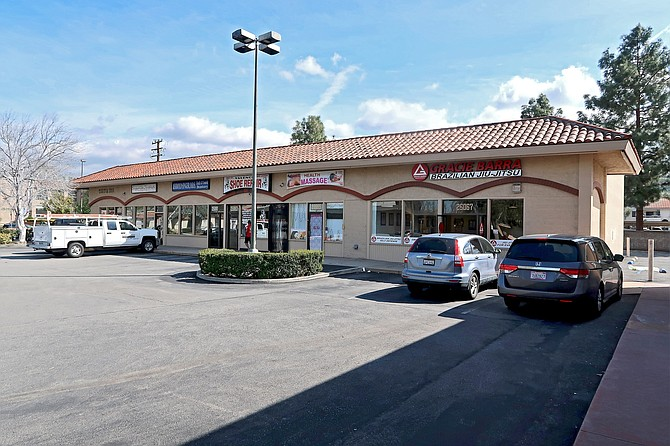 Retail center at 25057-25067 Peachland Ave. in Newhall.