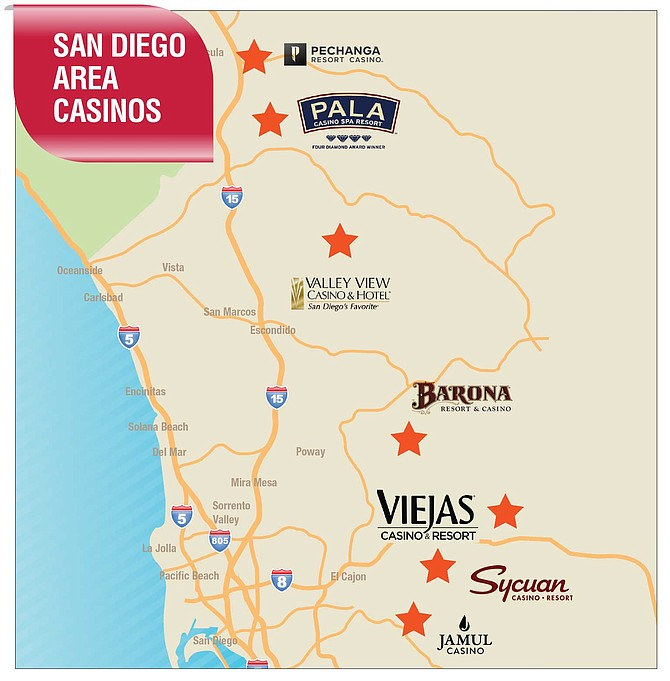 Map of casinos in san diego area egt avenger 3