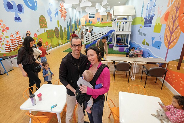 Small Customers, Big Idea: Naomi Leight-Give'on and husband, Amir, at their Wiggle & Work co-working space.