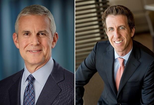 Robert D. Beyer, left, Todd M. Purdy, right