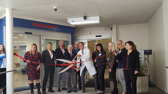 Ribbon cutting for remodeled emergency department at Valley Presbyterian Hospital in Van Nuys.