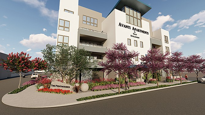 Avanti Apartments is being built in North Park by developer Tim Foley. Rendering courtesy of Foley Development