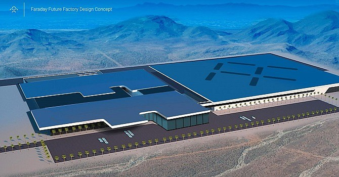Rendering of the Faraday Futures' planned Nevada plant