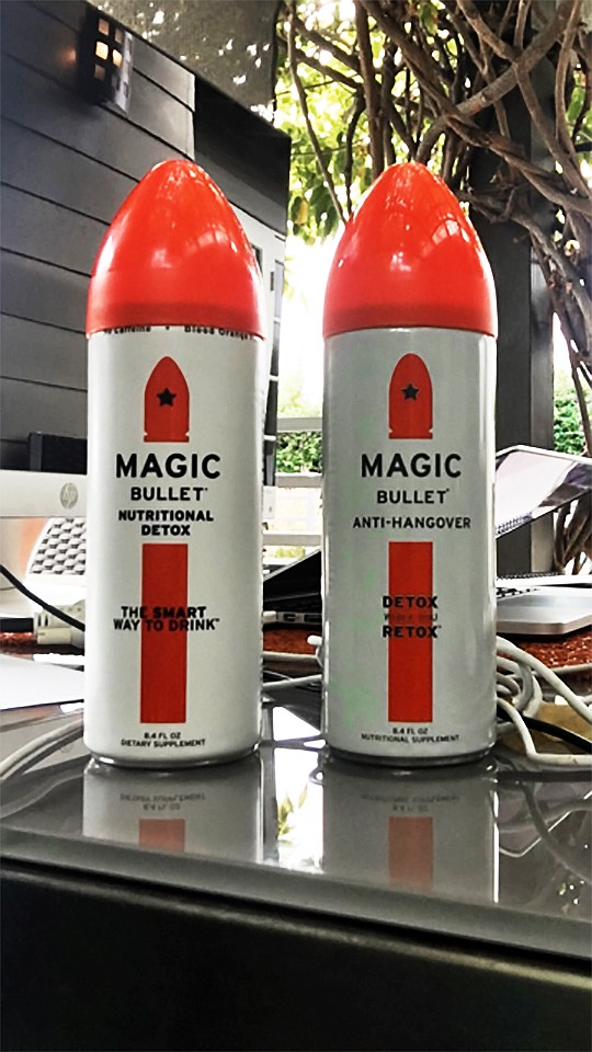 According to Joe and Didi Edwards, Magic Bullet is able to help the body's liver replenish what it loses when one consumes alcohol. Photo courtesy of Magic Bullet