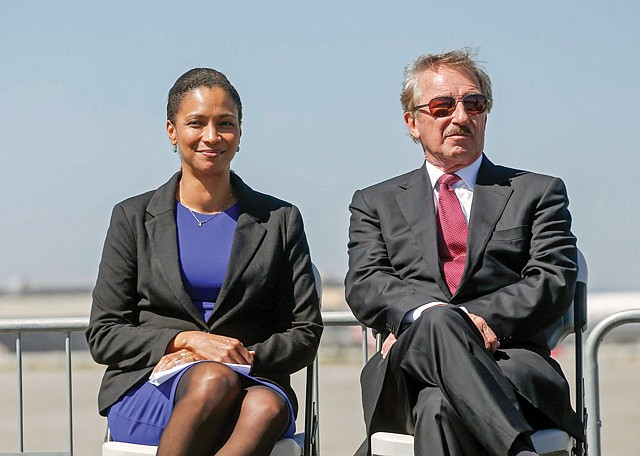 Up in Air: Air Lease Executive Chairman Steven Udvar-Hazy with Los Angeles World Airports Chief Executive Deborah Flint.