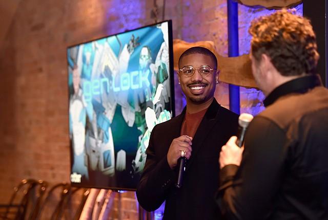 "Influencer: Michael B. Jordan at an Otter Media event for anime series ""Gen:Lock."""