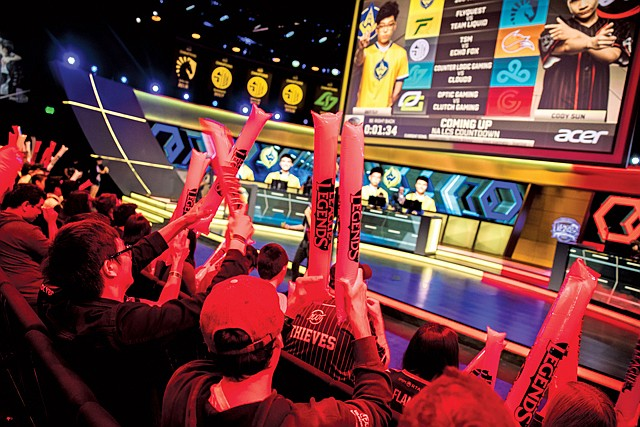 "Crowd Control: A live e-sports event for Riot Games' ""League of Legends."""