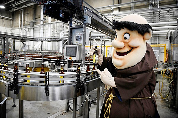 To mark their golden jubilee as a Major League Baseball franchise in San Diego, the Padres and their longtime partner Ballast Point have unveiled a new addition to the brewery's lineup of beers: the Swingin' Friar Ale. Photo courtesy of Ballast Point