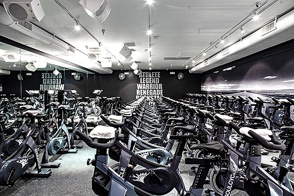 A new SoulCycle studio opened up earlier this month at One Paseo, a mixed-use development in Del Mar. Photo courtesy of Soul Cycle