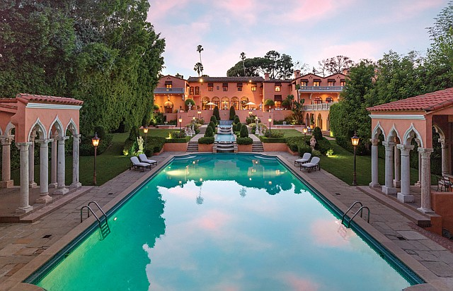 "Four in the Fold: The $135 million ""Godfather"" house in Beverly Hills is co-listed by four agents with four separate brokerages."