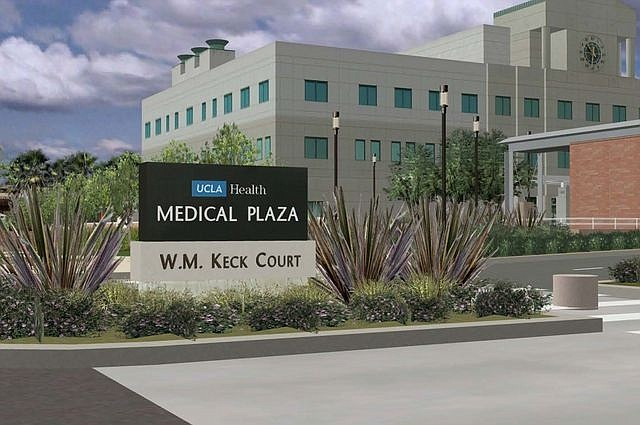 Rendering of the planned renovated of the W.M. Keck Court at UCLA Medical Plaza (photo courtesy of UCLA)