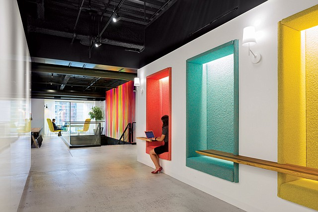 Privacy Options: Convene designs spaces with open work areas and private offices.