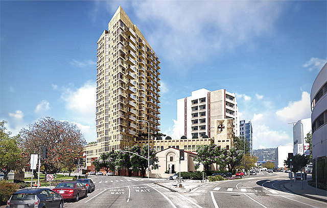 Church Tower: Our Lady of Mt. Lebanon filed plans to build a new apartment building at its Beverly Grove site.