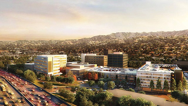 New Beginnings: A rendering of what the Tarzana Medical Center after renovations.