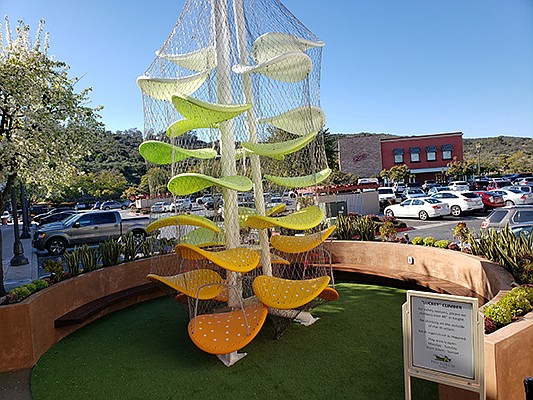 Created by Luckey LLC, a design-build firm based in New Haven, Connecticut, Luckey Climbers are children's climbing sculptures made for institutional and commercial spaces worldwide. Photo courtesy of The Forum Carlsbad
