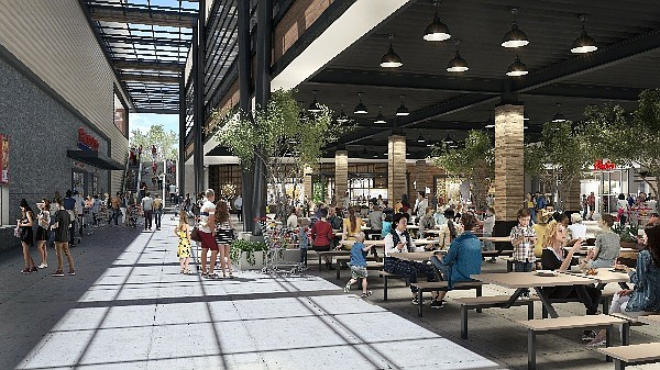 Rendering of The Patios Connection development at Westfield Valencia Town Center.