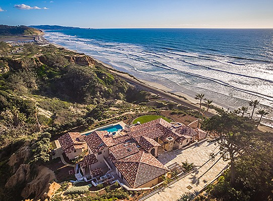 Del Mar homes, such as this one sold for $21.5 million, make up some of the most expensive San Diego County residential real estate sales in 2018. File photo