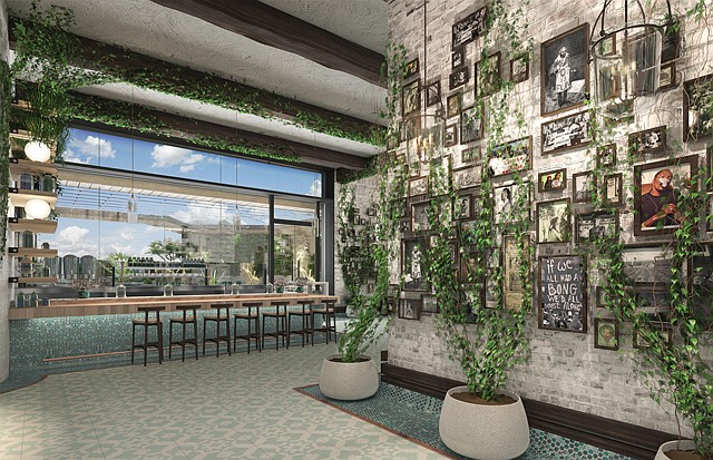 Pot Spot: A rendering of West Hollywood's new Lowell Farms: A Cannabis Cafe.