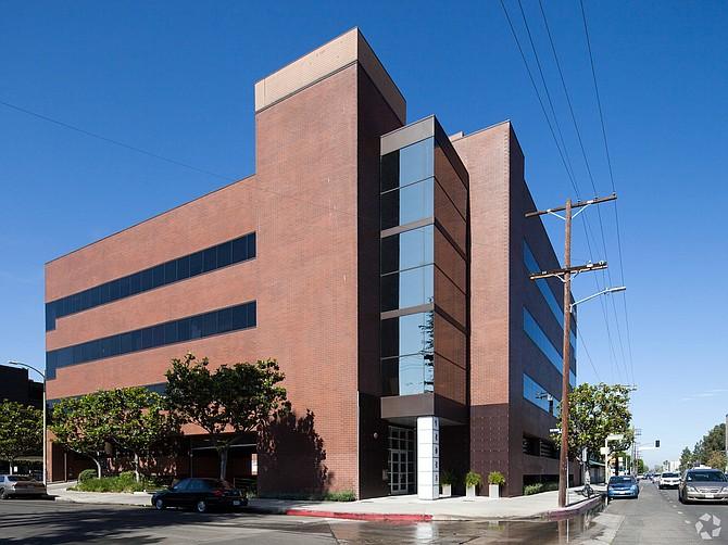 Office building at 12925 Riverside Drive in Sherman Oaks.