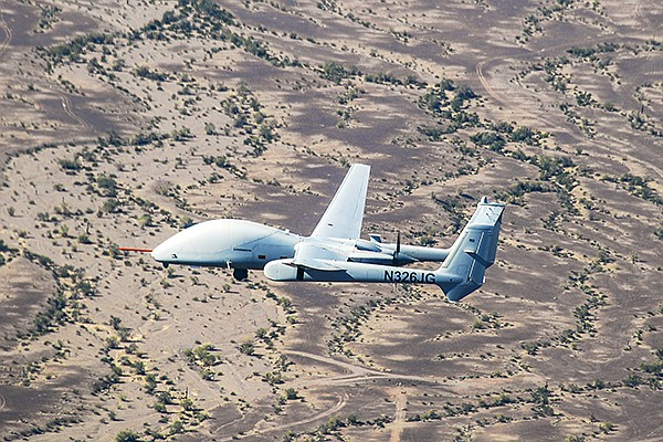 The Firebird aircraft in its unmanned configuration. Photo courtesy of Northrop Grumman Corp.