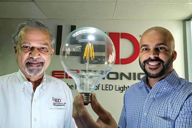 Father and Son: LEDtronics founder Pervaiz Lodhie and COO Shaan Lodhie.