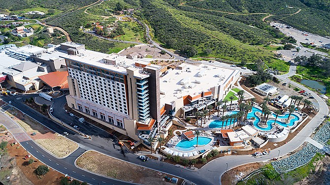 Just last month, after two years of construction, the Sycuan Band of Kumeyaay Nation unveiled its $260 million expansion of the Sycuan Casino Resort. Photo courtesy of Joel Zwink