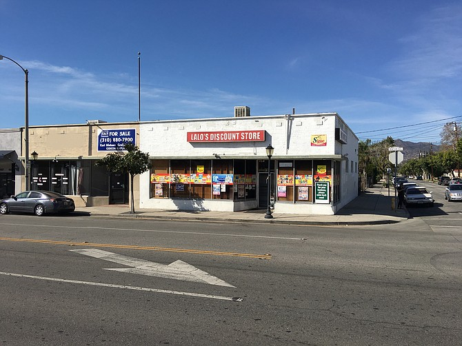 Storefront at 1031-1035 N. Maclay Ave. in San Fernando.