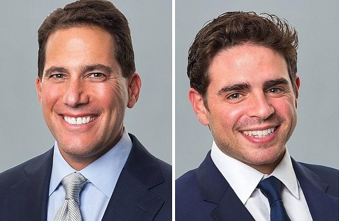 Drew Anderman, left, Ben Nevid, right