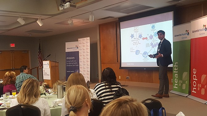 Dr. Yulian Khagi speaks about cancer immunotherapy advances at HealthX.